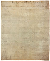 Click for a more detailed look at the original Declaration of Independence